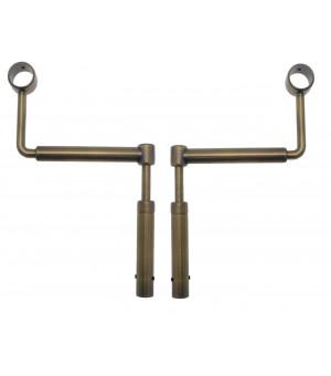 2 Support sans percage réglable bronze D28-25