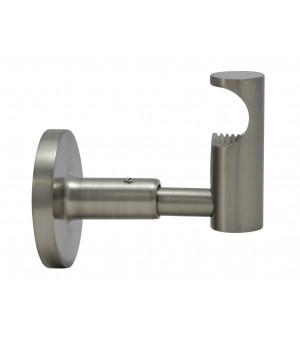 Support nickel brossé ouvert 60mm D19