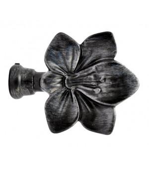 Embout Fleur noir brossé D19
