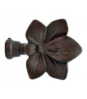 Embout Fleur rouille vieilli D19
