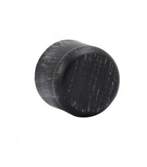 Embout Bouchon noir brossé D19
