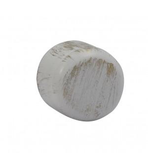 Embout Bouchon blanc brossé D19