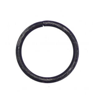 Anneau noir brossé D30X38