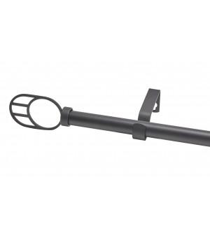 Kit Ellipse noir mat 120-210 D19-16