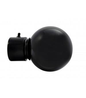 DESTOCK Embout Boule noir brillant D28