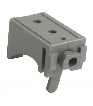 Lot de 2 supports face gris pour rail 25x10,5 40mm