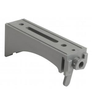 Lot de 2 supports face gris pour rail 25x10,5 80mm