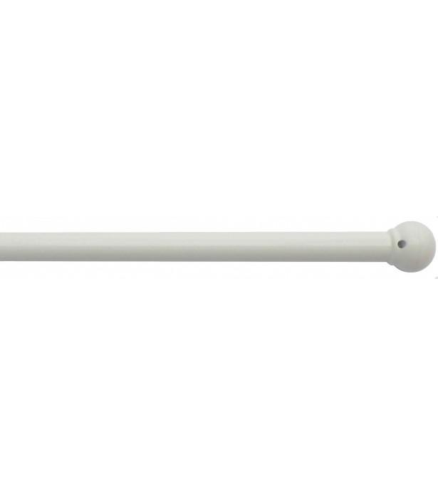 1 Tringle Boule blanc 40-70cm D10