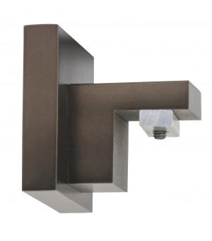 Naissance pour rail carré Aura antic bronze D20X20