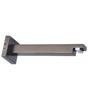 Support ouvert rail carré antic bronze 155mmD20X20