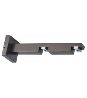 Support rail carré antic bronze 85-155mm D20X20
