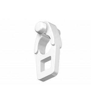 10 galets suspendeur blanc Aura rond &22x18,2 & 2v