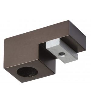 Support Aura plafond rail carré antic bronzeD20X20