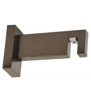 Support rail rectangle antic bronze 85mm D33X11,5