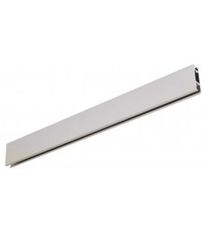 Rail Aura rectangle 33x11,5 en nickel givré 1m50