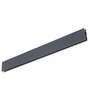 Rail Aura rectangle 33x11,5 en noir mat 2m00