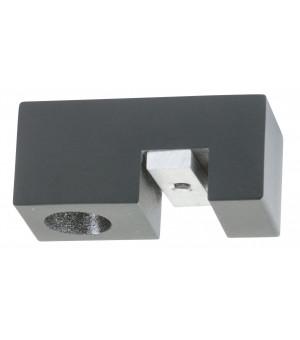 Support Aura plafond rail 33x11,5 noir mat