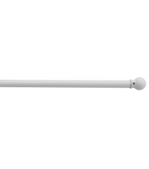 1 Tringle Boule blanc 60-80cm D7