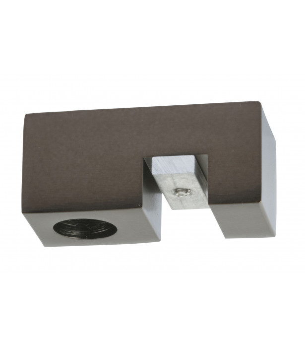 Support plafond rail33x11,5 rectangle antic bronze