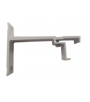 Support rail clipsable gris 80mm 24x16