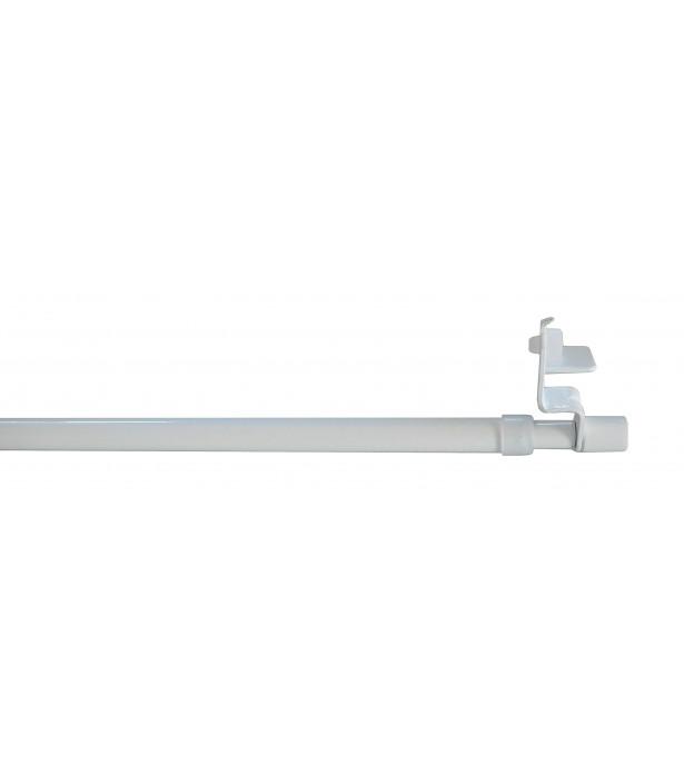1 Tringle Cylindre à pression blanc 80-110cm D10