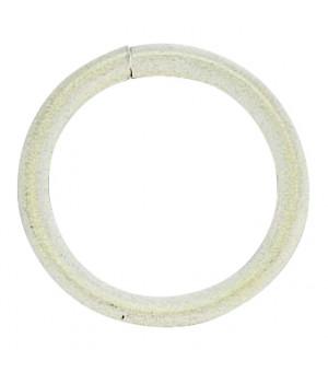 Anneau blanc brossé D40x50