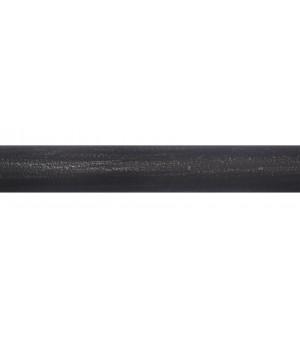 Barre noir brossé argent 2m00 D28