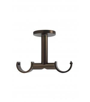 Support plafond antic bronze double D28/28