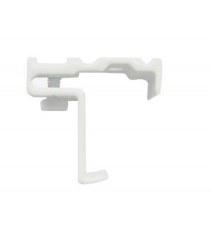 Support rail clipsable blanc pour rail 24x16
