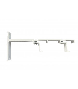 Support rail clipsable blanc double 80-140mm 24x16