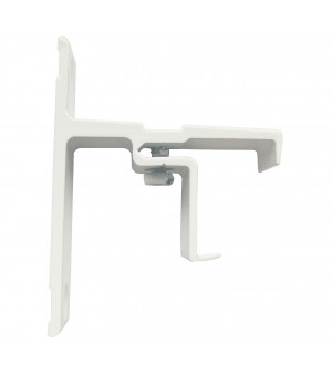 Support rail clipsable blanc 40mm 24x16