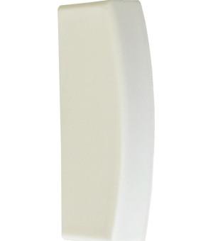 Embout Bouchon blanc pour rail 25X10,5