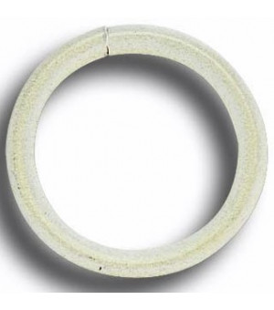 Lot de 10 anneaux blanc brossé D40x50