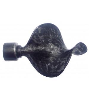 1 Embout Volute noir brossé D28