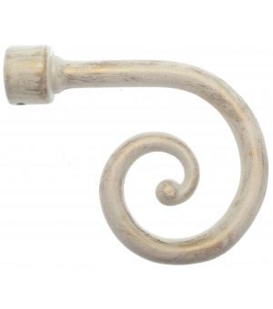 1 Embout Spirale sable brossé D28