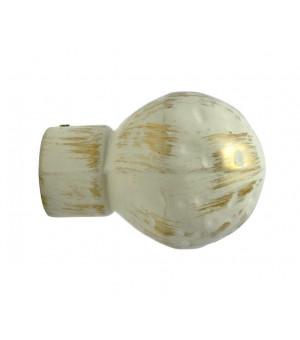 1 Embout Boule sable brossé D28