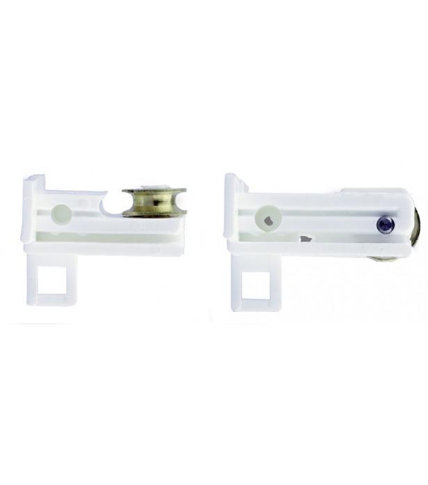 1 garniture poulie blanc pour rail 25x10