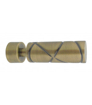 Lot de 2 embouts Cylindre croisé bronze D20