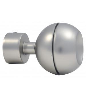 Lot de 2 embouts Sphère ouverte nickel givré D20