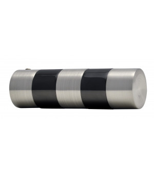 2 Embouts Cylindre bicolor nickel brossé/noir D19