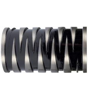 BAF21 1 Embout Sculpture nickel mat/noir D28