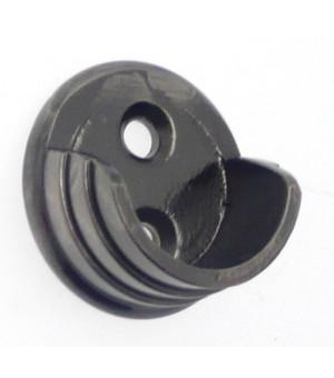 Support penderie extremité décor laiton D30x15