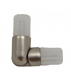 1 Connecteur nickel givré pour tube D20