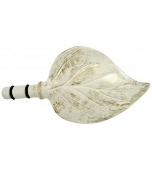 1 Embout Feuille sable brossé D19