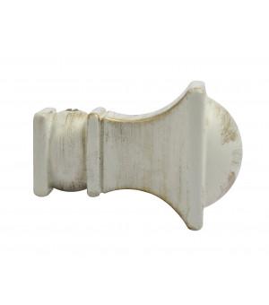 1 Embout Chapiteau sable brossé D19