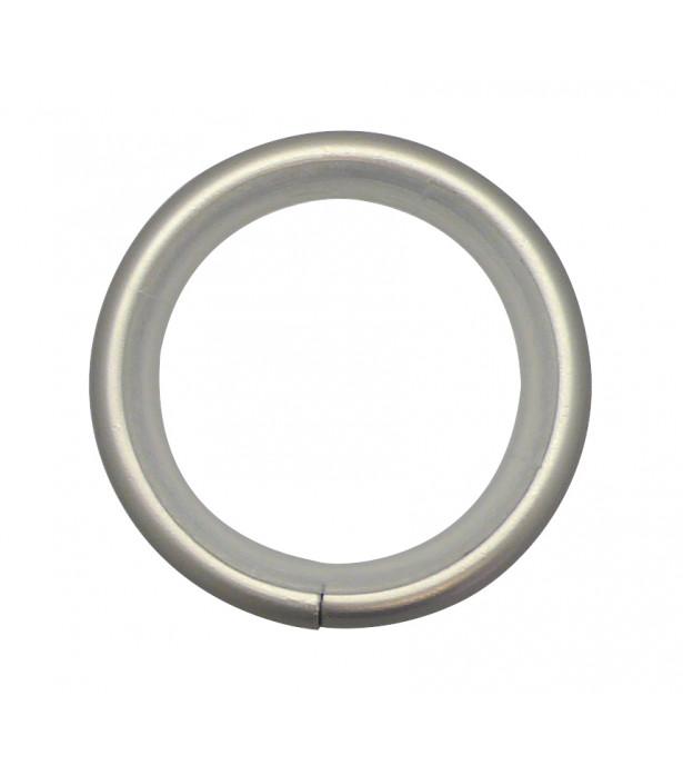 Lot de 10 anneaux nickel givré D30x38
