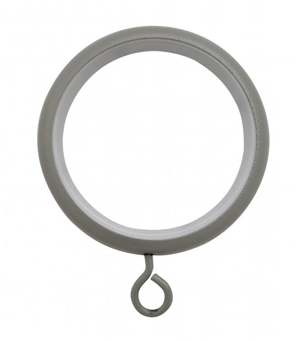 Lot de 8 anneaux-crochet gris grainé D46x58