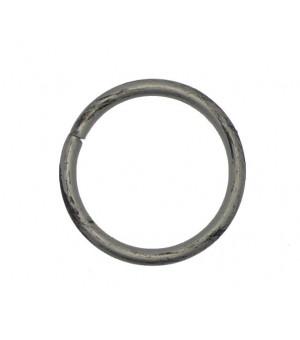 Lot de 10 anneaux brossé argent D30x38