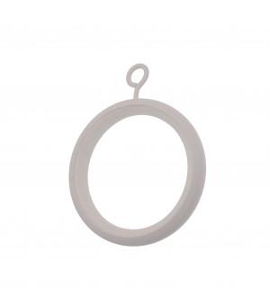 Lot de 8 anneaux-crochet blanc grainé D46x58