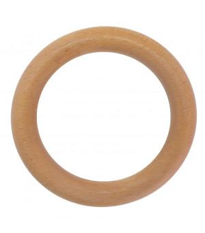 Lot de 10 anneaux naturel verni D45x65